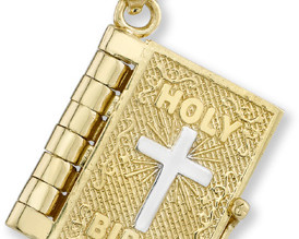 14K Gold Bible Pendant With Lord's Prayer