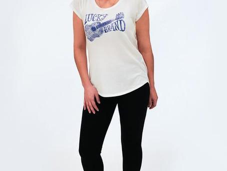 Lucky Brand Women's T-Shirt with Black Leggings