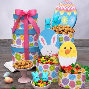 Bunnies and Chicks Easter Tower