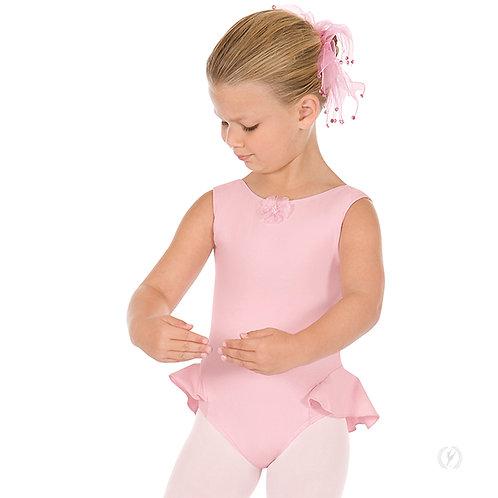Pink Peplum Leotard with attached skirt
