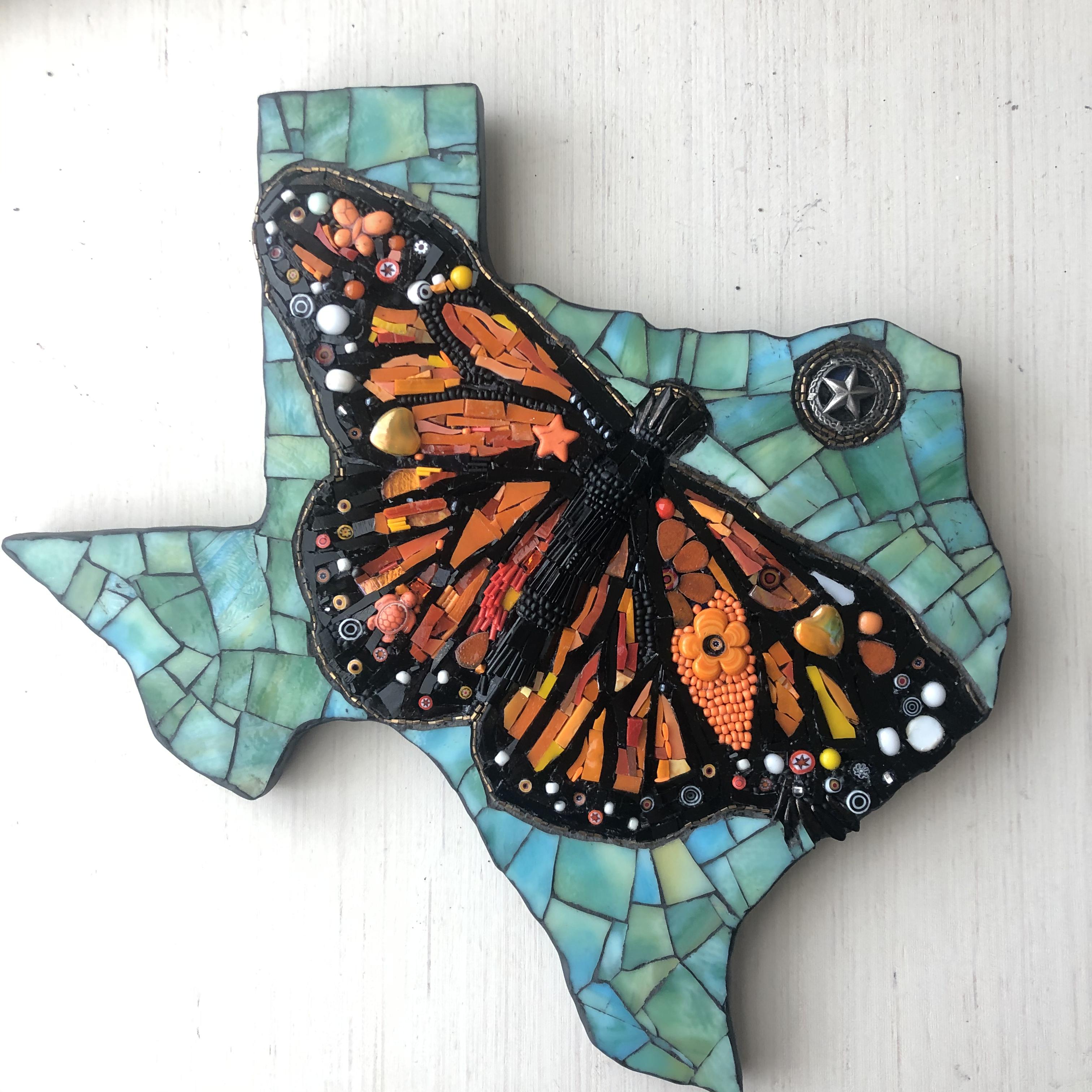 Texas Map Mosaic