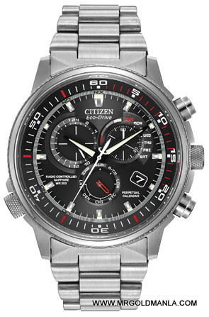 Citizen Mens Stainless Steel Eco Drive Watch