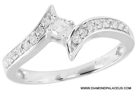 10kw 0 35ctw Diamond Promise Ring