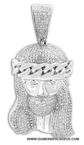 10kw 100ctw diamond jesus pendant aloadofball Image collections