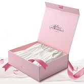 Pink Flap open rigid boxes with Inner di