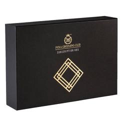 Black Rigid Boxes with gold Foil