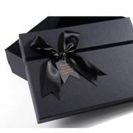 Lazo de cinta negro Cajas rígidas Cajas rígidas