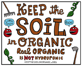 Sign the Petition to Keep Soil in Organic