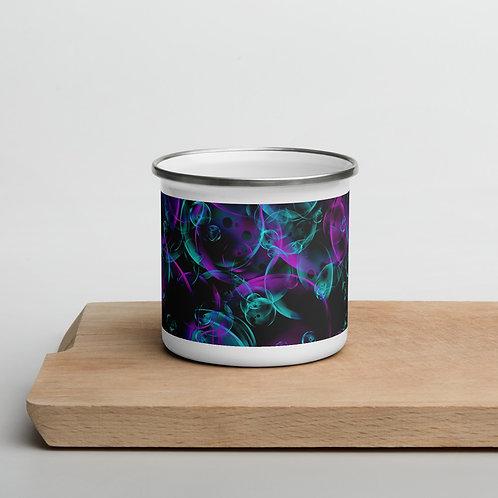 Bubbles Enamel Mug