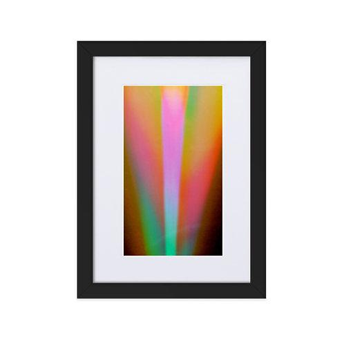 Tulip Bulb light Spectrum Matte Paper Framed Poster With Mat