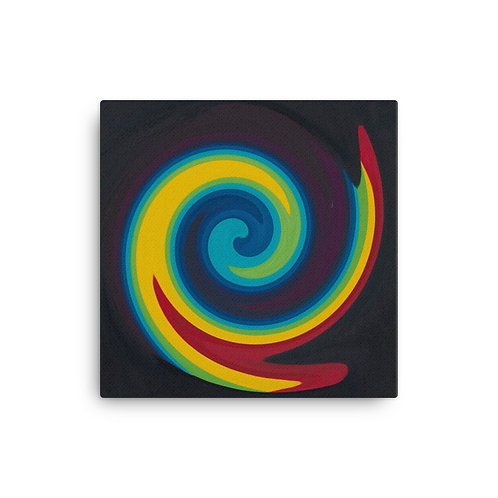 Primary Spiral Canvas
