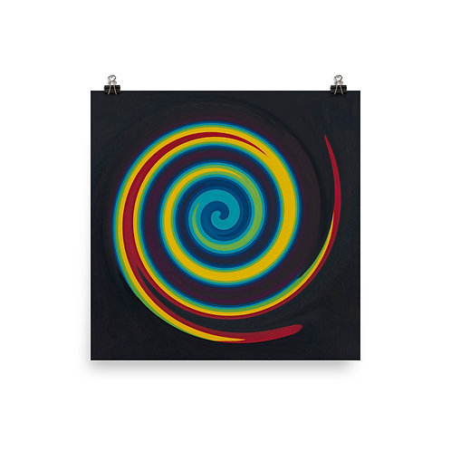 Primary Color Swirl Poster