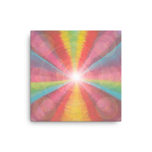 Rainbow Light Code Canvas
