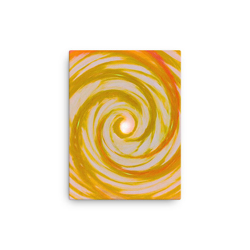 Golden Wing Vortex Canvas