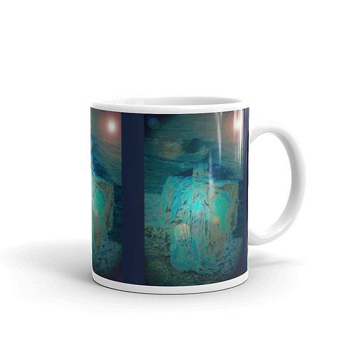 Shadows at The Sea Shore glossy mug