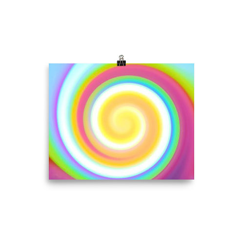Candy Spiral Poster