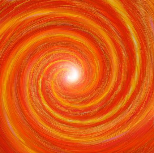 Orange Comet Vortex