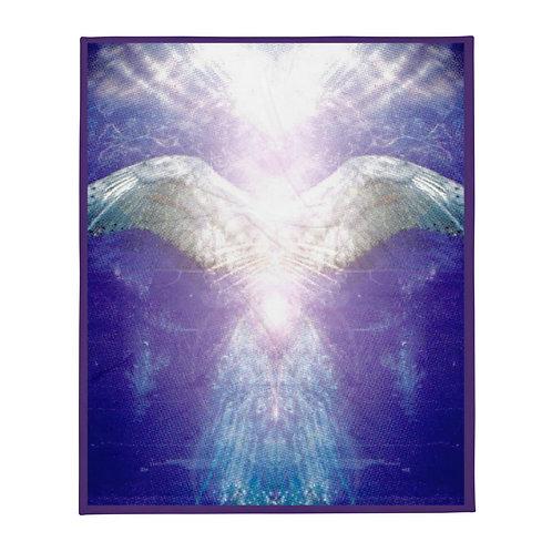 Violet Angel Throw Blanket