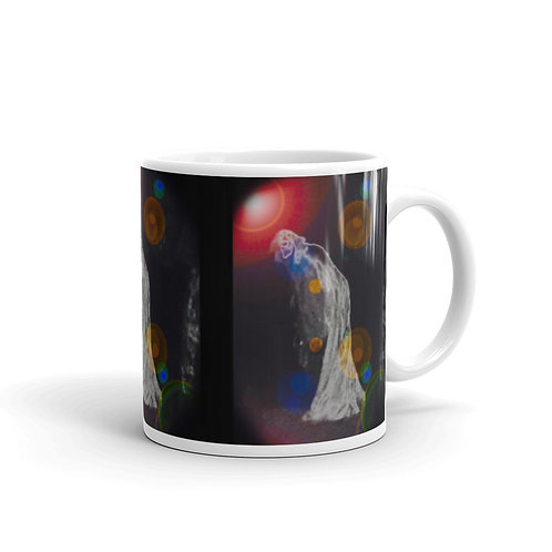 The Inquisitive Ghost glossy mug