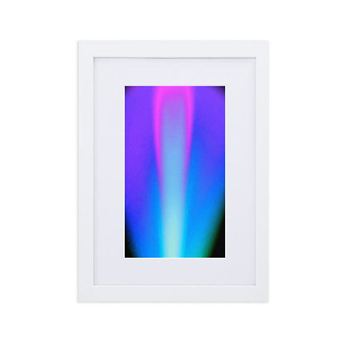 Pink Violet Light Spectrum Matte Paper Framed Poster With Mat