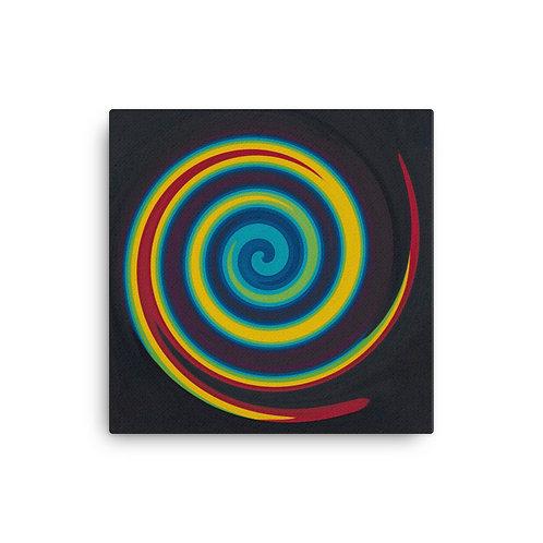 Primary Swirl Canvas