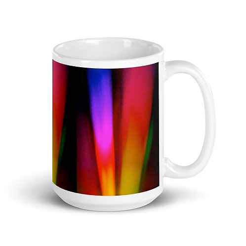 Rosey Violet Light Spectrum White glossy mug