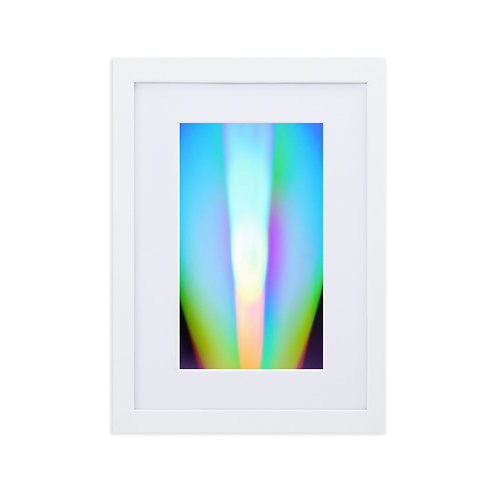Light Spectrum Matte Paper Framed Poster With Mat