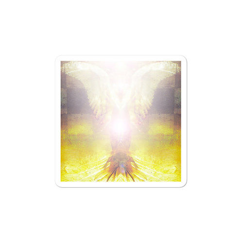 Golden Angel Bubble-free stickers