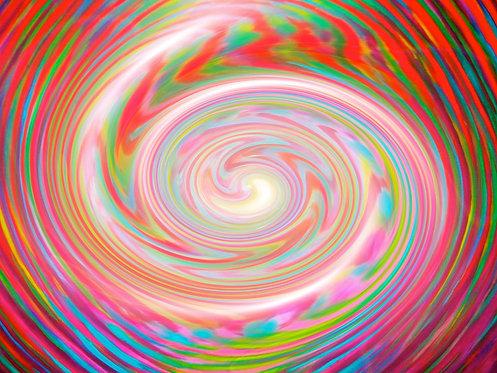 Lrg Multi Coloured Zebra spiral