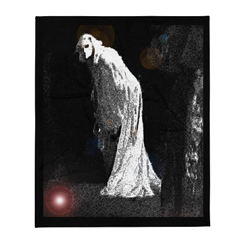 Gothic Witch Ghost Throw Blanket