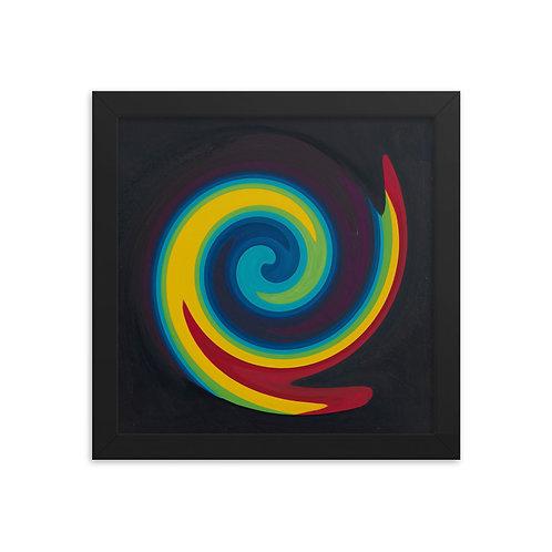 Primary Spiral Framed poster
