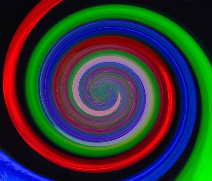 Tri Colour Spiral