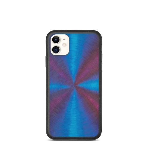 Purple Cross Vortex Biodegradable iPhone Case