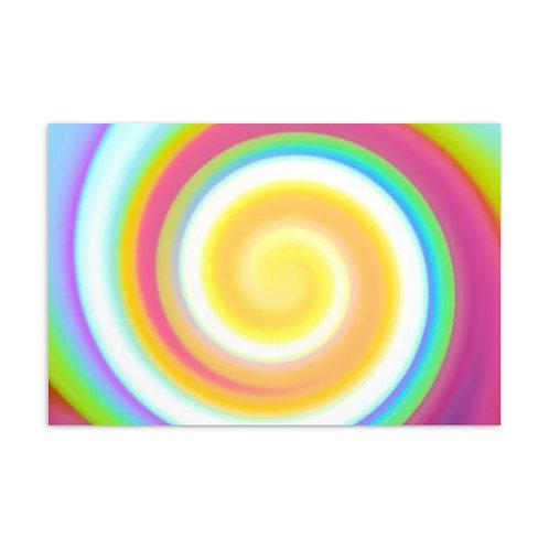 Candy Spiral Postcard