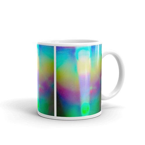 Light Code Angel White glossy mug