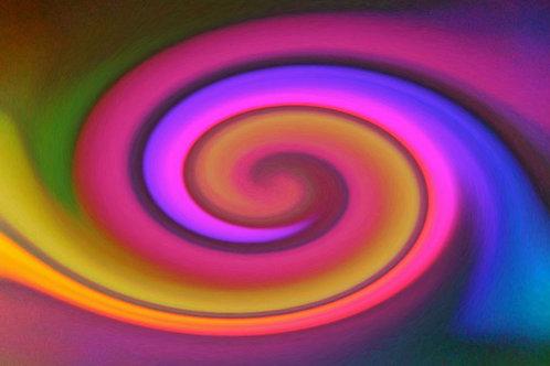 Large Rainbow Spiral