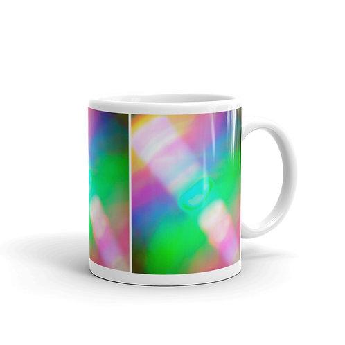 Light Code Sword White glossy mug