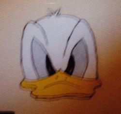 Donald Ducks frown
