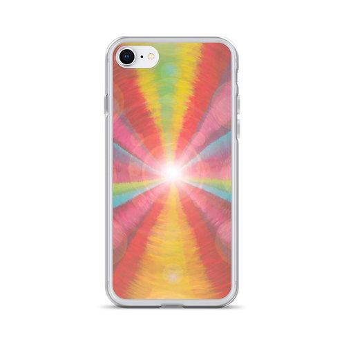 Rainbow Light Code iPhone Case