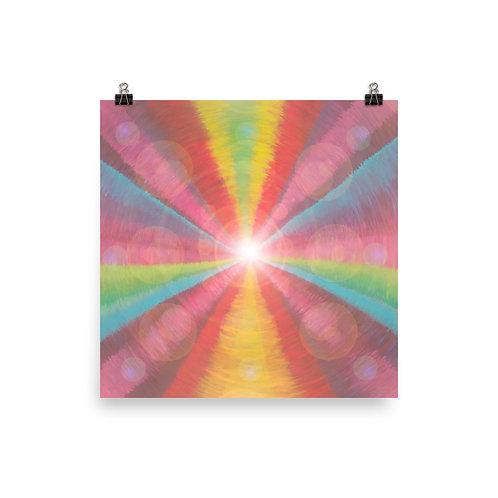 Rainbow Light Code Poster
