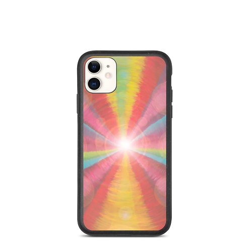 Rainbow Light Code Biodegradable phone case