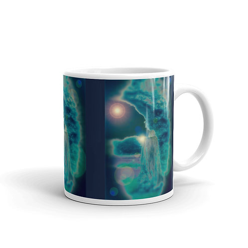 The Starry Shadow glossy mug