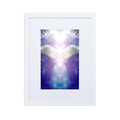 Violet Angel Matte Paper Framed Poster With Mat