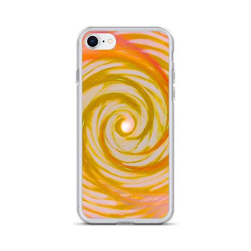 Golden Angel Wing Vortex iPhone Case
