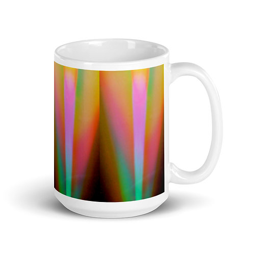 Flower Bulb Light Spectrum White glossy mug