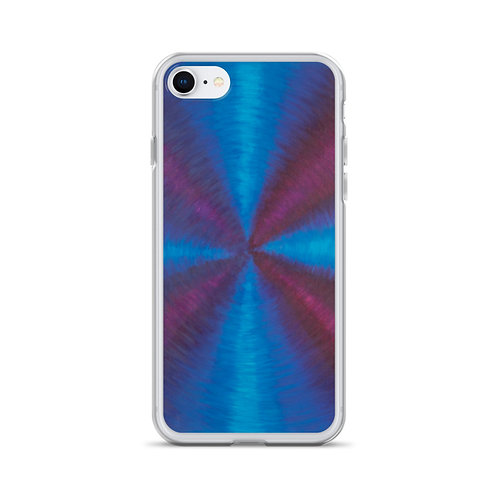 Purple Cross Vortex iPhone Case