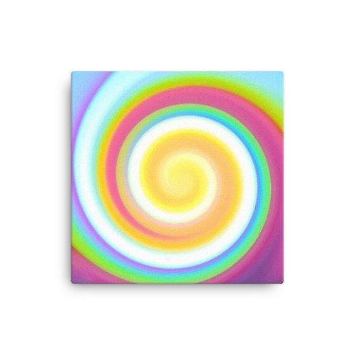 Candy Spiral Canvas