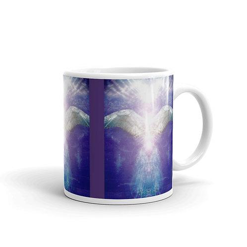 Violet Angel glossy mug