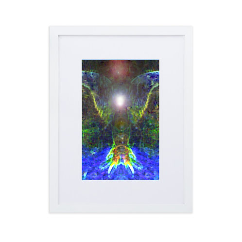 Earth Angel Matte Paper Framed Poster With Mat