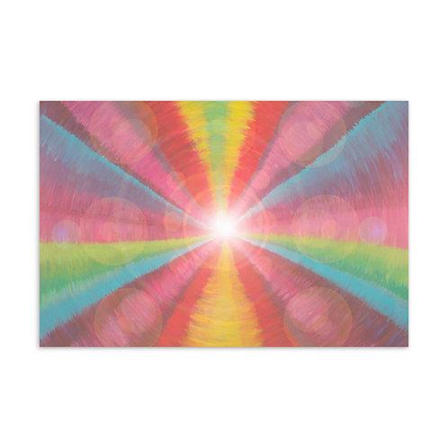 Rainbow Light Code Postcard